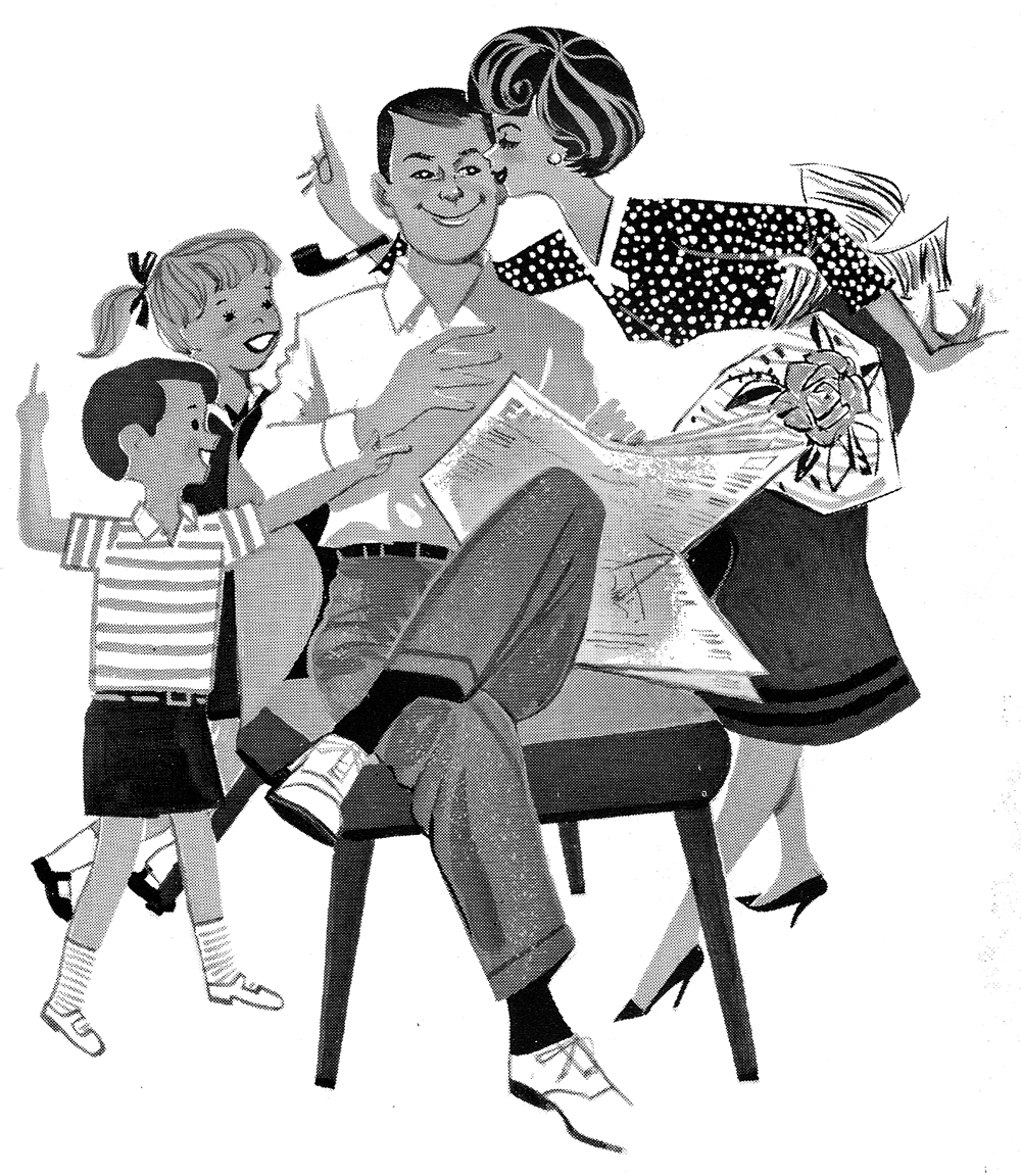 Free Clip Art Friday: Retro Art Fathers Day 1961.