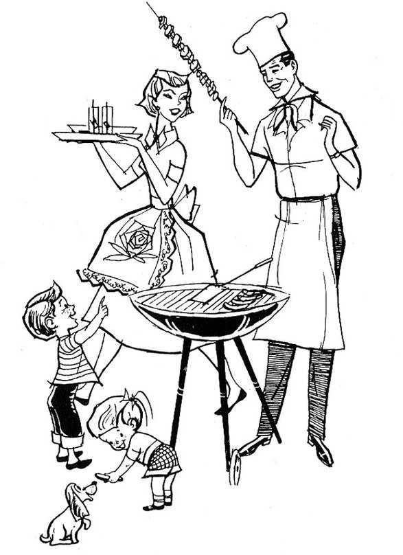 Summer Cookout Clipart Retro Clip Art From 1961 Clipart.