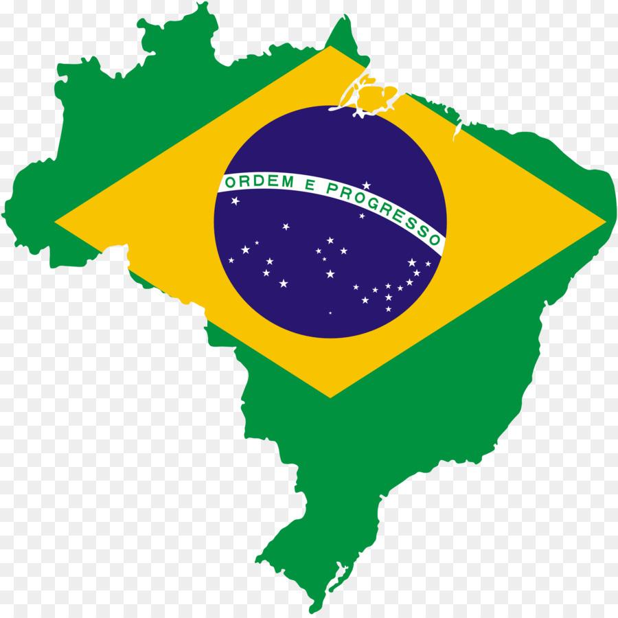 Flag of Brazil Map Clip art.