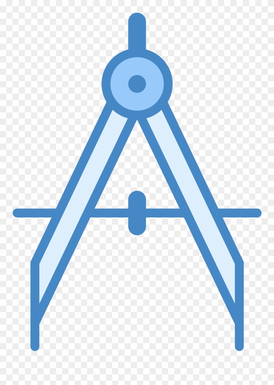Drawing Compass Icon.