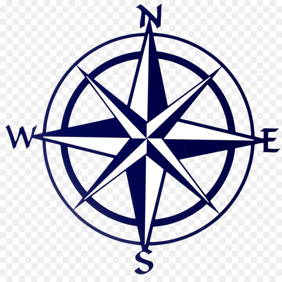 Compass rose Map Clip art.