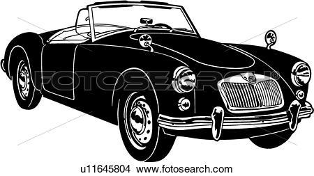 Clipart of , 1600, 1961, automobile, car, classic, mga, sport.