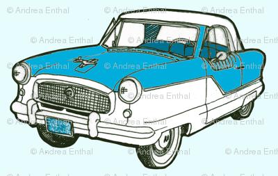 1961 Series IV Nash AMC Metropolitan fabric.