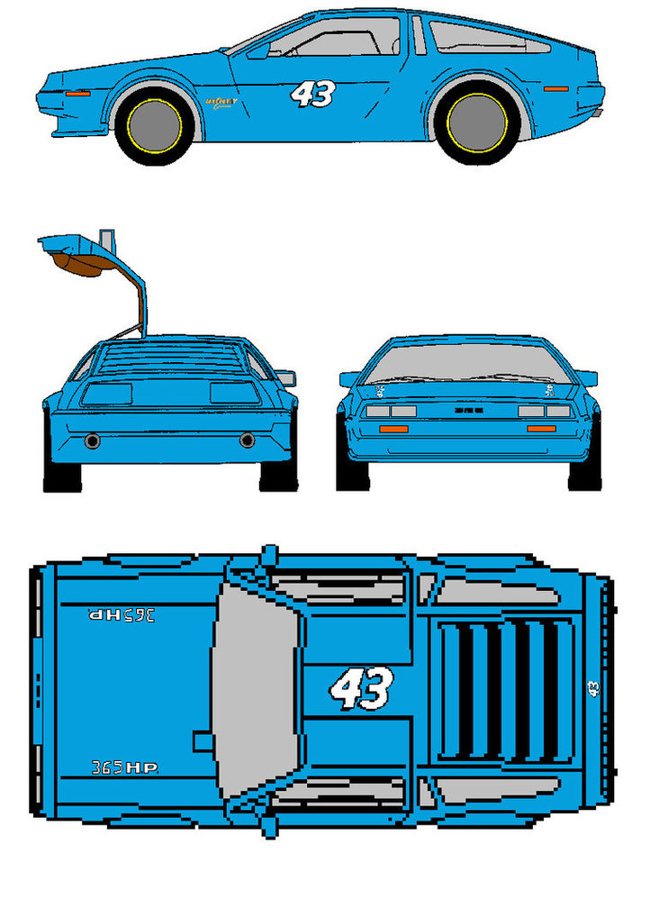 1963 Richard Petty Delorean Clipart.