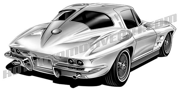 royalty free 1963 corvette art.