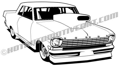 63 chevy II vector clipart, Buy two images, get one free.