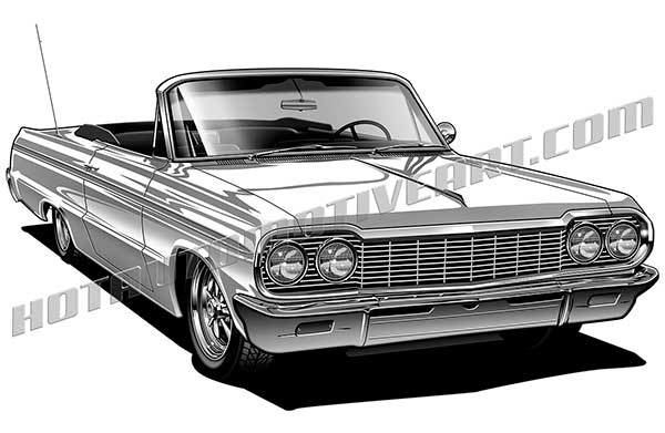 64 chevy impala convertible high quality, buy two images, get one.