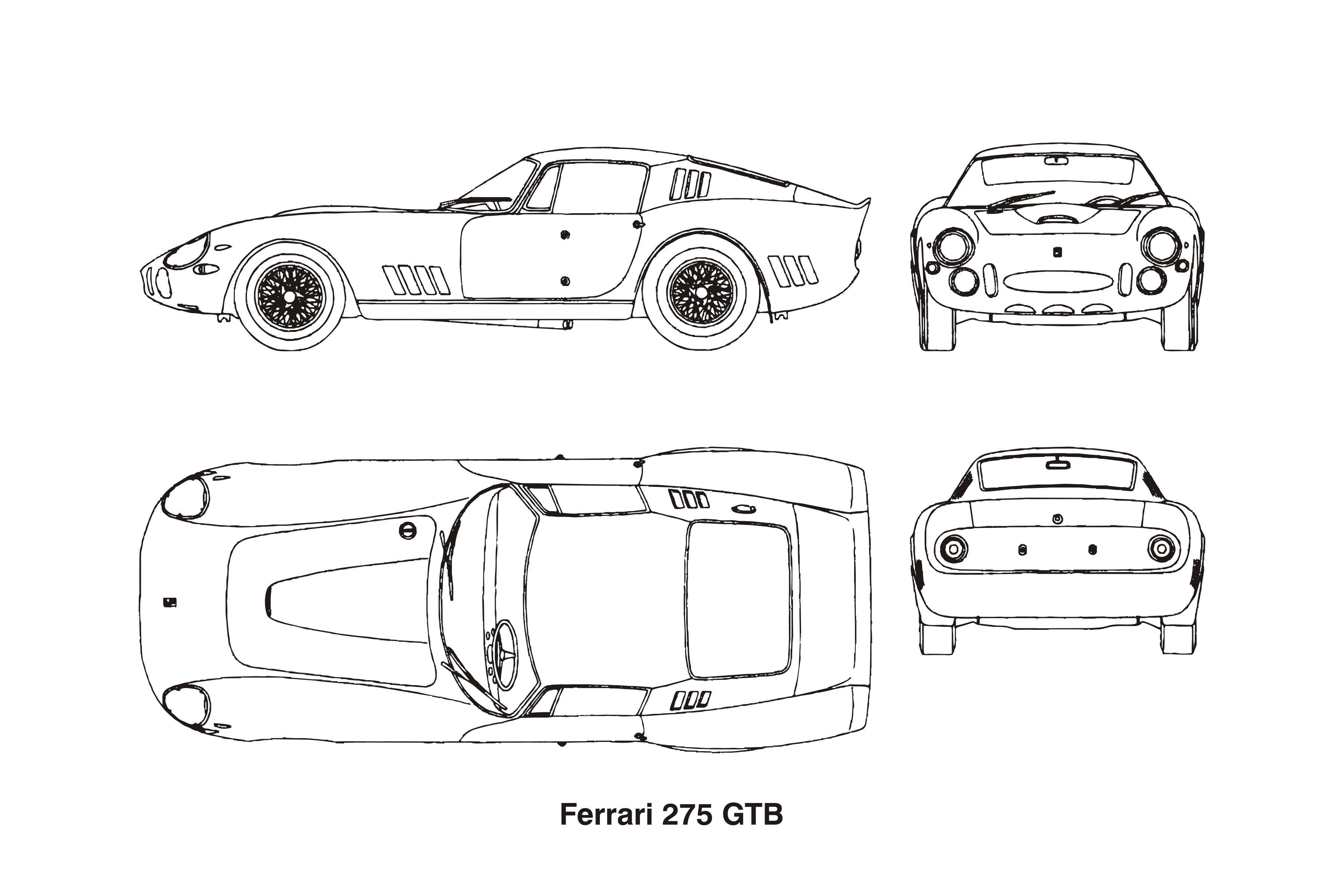 Ferrari 275 GTB, year 1964 Clipart.