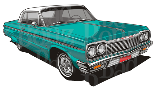 64 impala lowrider clipart.