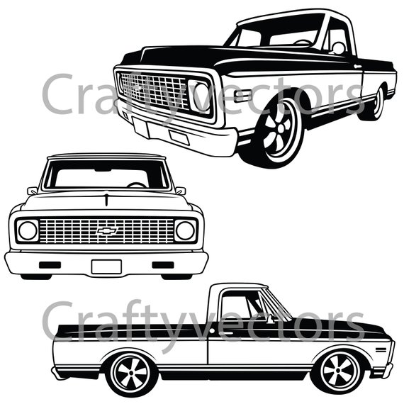 Chevy Truck Front SVG.