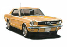 Mustang Stock Illustrations.
