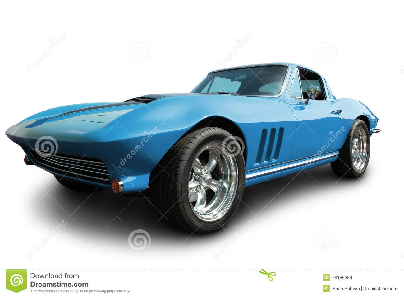 1965 Corvette Isolated On White Stock Images.