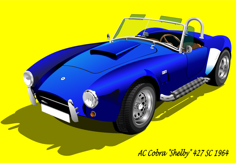 Free Clipart: AC Cobra 427 SC 1965 (with background).