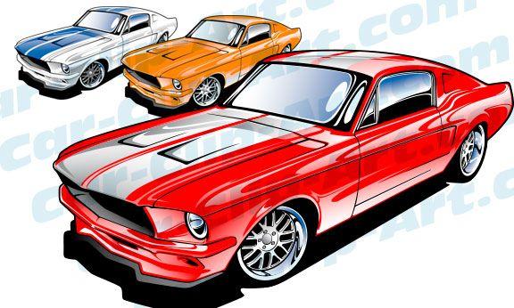 1967 Ford Mustang Vector Art.