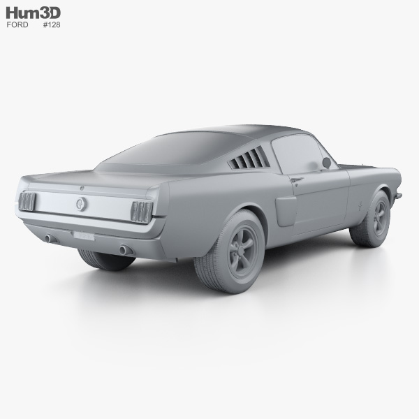 Ford Mustang Fastback 1965 3D model.