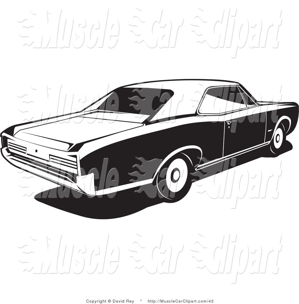 Automotive Clipart of a 1966 Gto Muscle Car Made by Pontiac by.