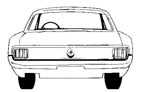 1966 Coupe Clipart.