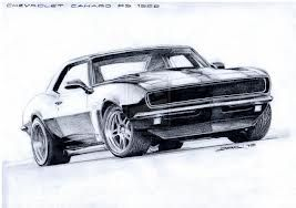 1967 camaro drawing.
