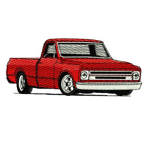 1967 Chevrolet Pickup Truck Embroidery Design Chevy.