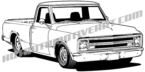 Chevy Truck Vector at GetDrawings.com.
