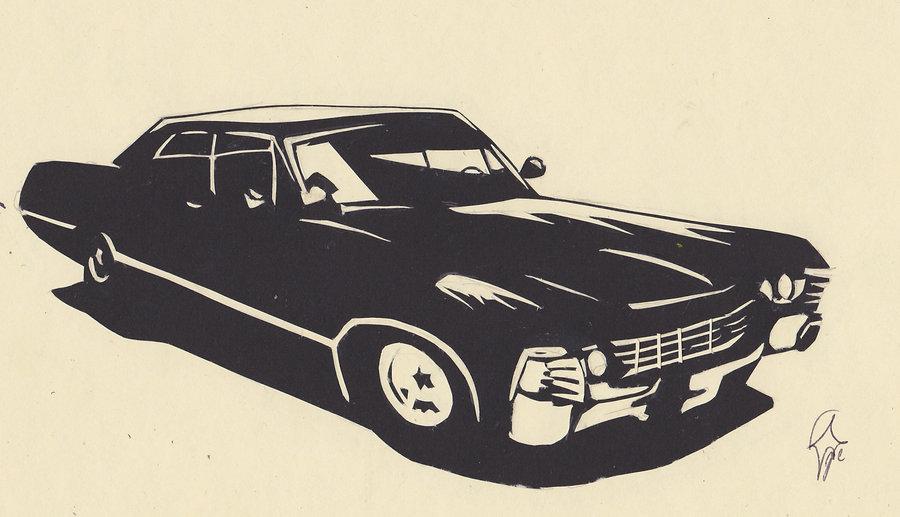 Impala Car Silhouette.
