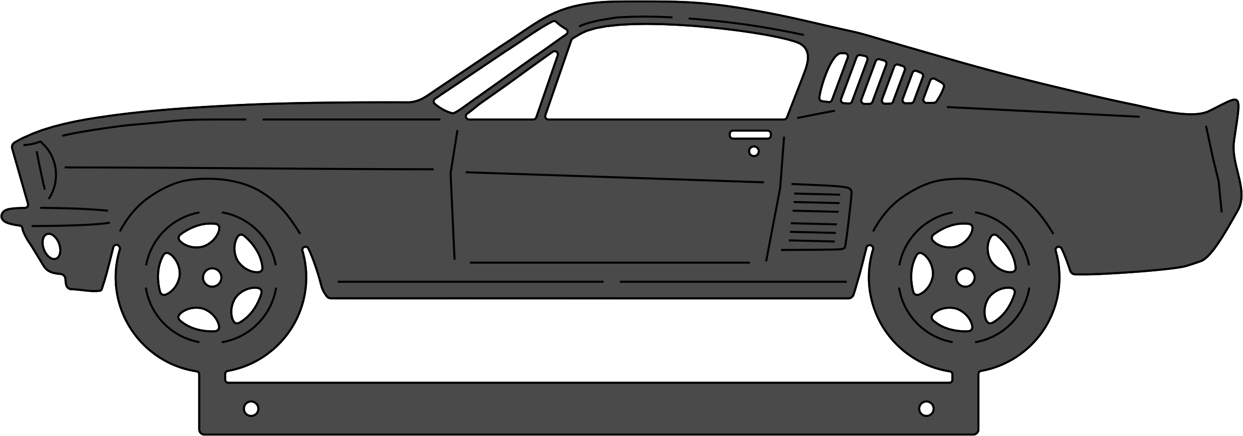 67 mustang clipart.