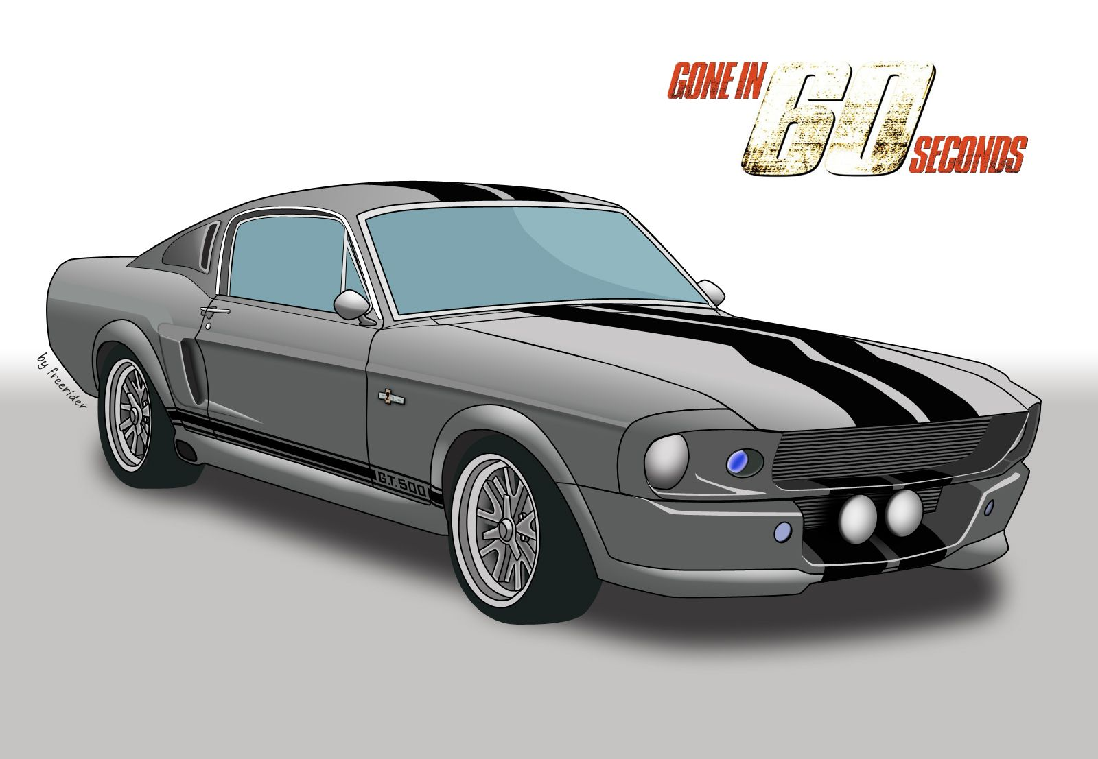 1967 Ford Mustang Shelby GT500, Eleanor, Gone in 60 seconds.