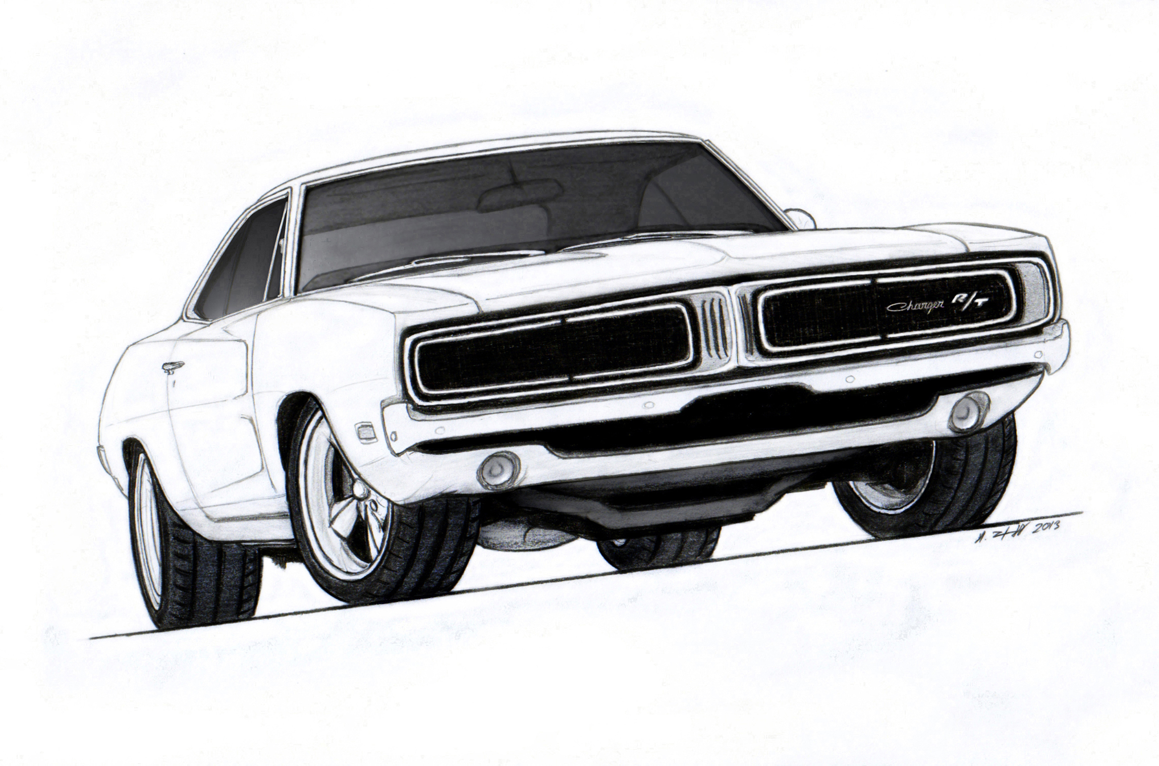 1968 1969 1970 Dodge Charger Clip Art #PgxzF3.