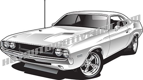 1970 Muscle Car Front 3/4 View #2.