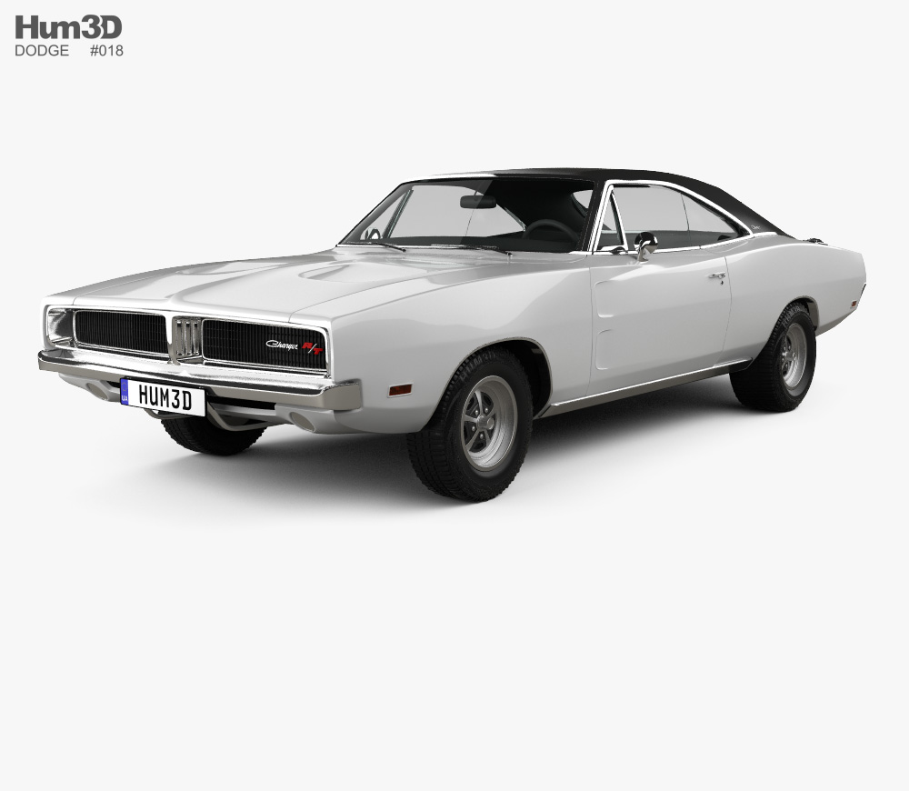 Dodge Charger RT 1969 3D model.