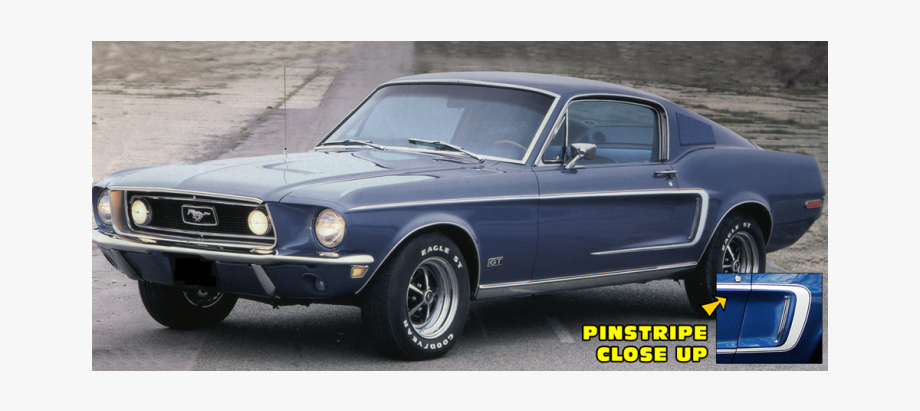 Drawing Mustang Fastback Transparent Png Clipart Free.