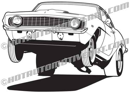 1969 Muscle Car Wheelie.
