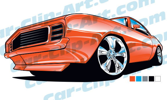 1969 Camaro RS Vector Art — Car.