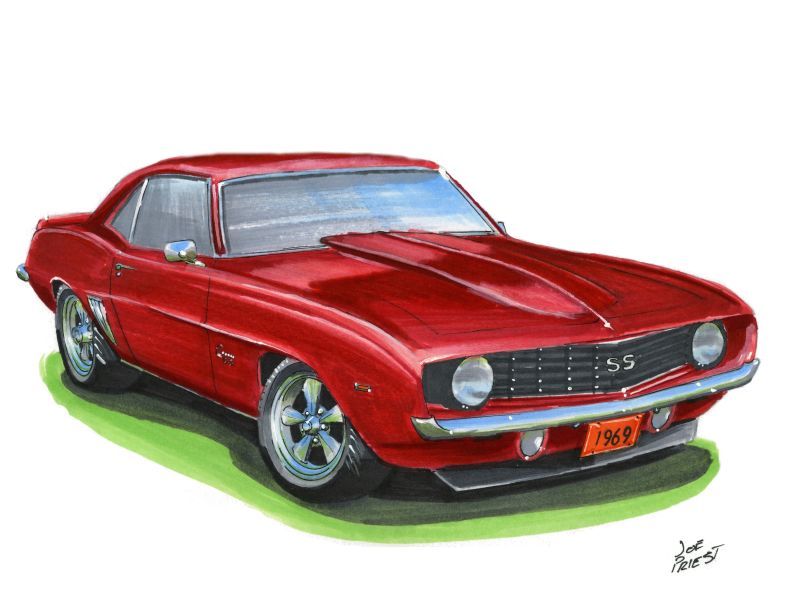 Chevy Camaro Drawing at GetDrawings.com.