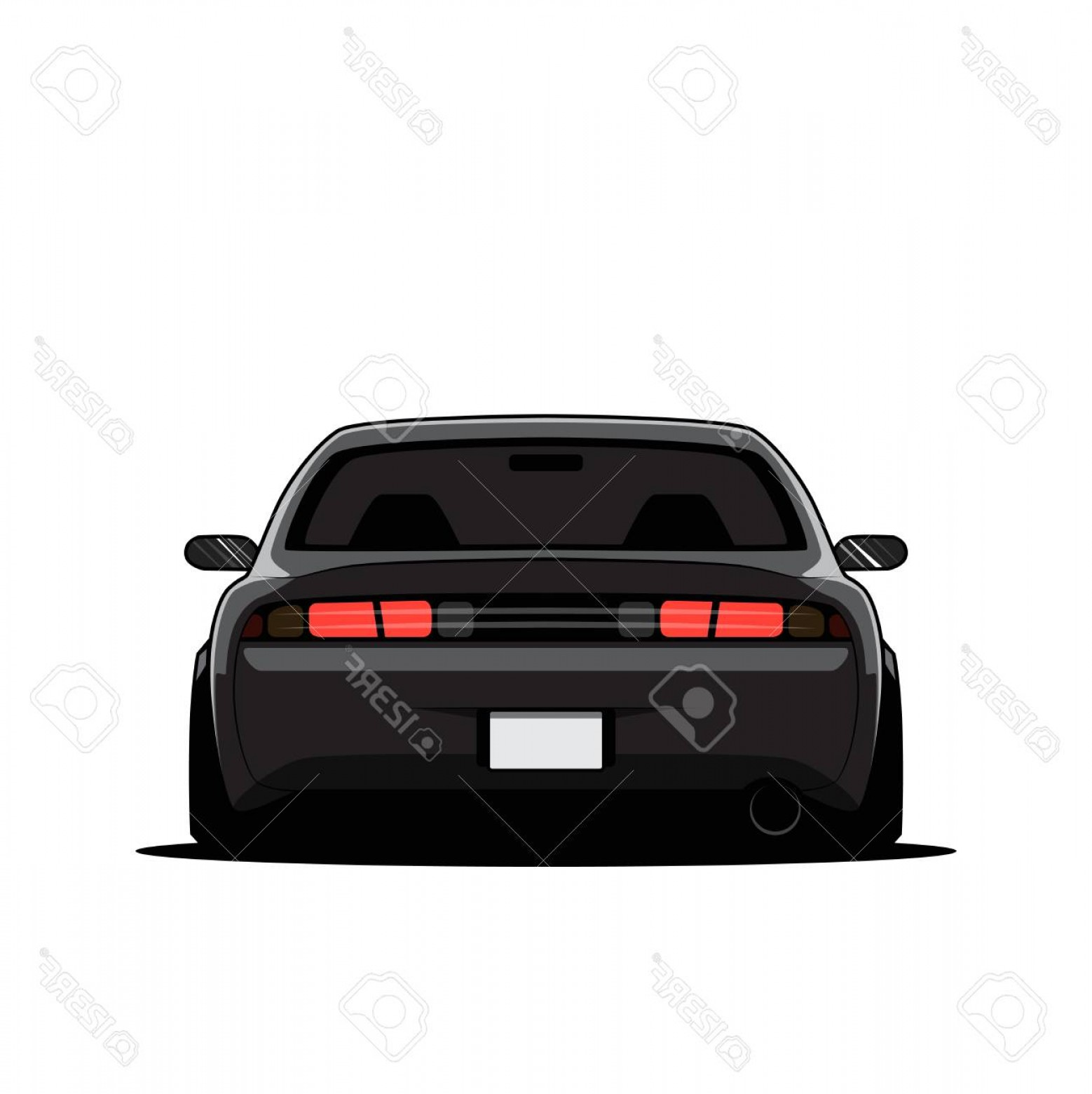 Back Of Camaro Vector.