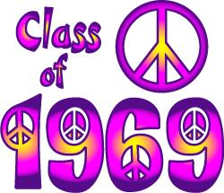 Class of 1969 Baby Boomer Clip Art.