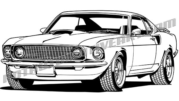 Mustang 1969 Clipart.