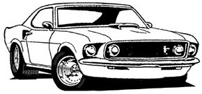 Ford mustang 1969 clipart.