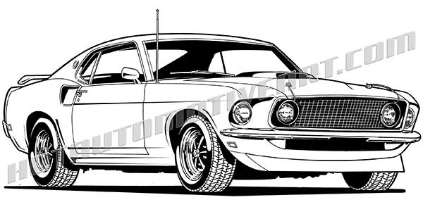1969 Mustang Clipart.