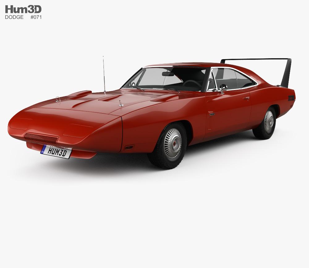 Dodge Charger Daytona Hemi 1969 3D model.