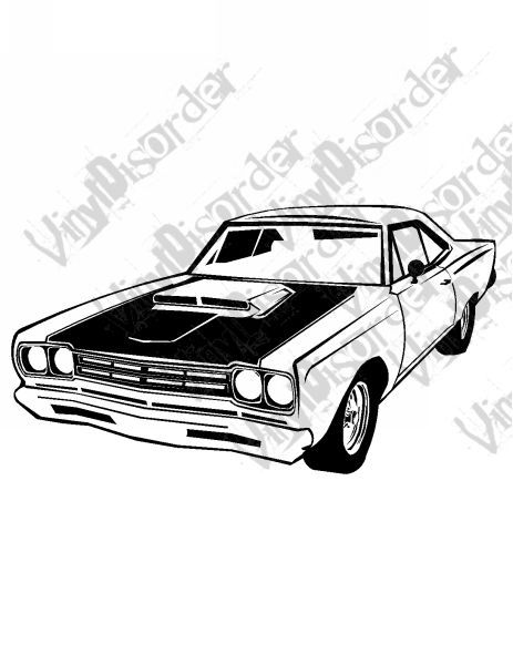 1969 Plymouth Roadrunner 446 Decal.