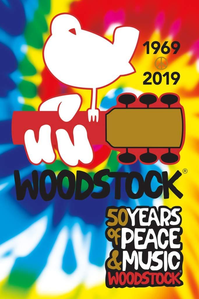 Studio B Woodstock 50th Anniversary 1969 2019 Tie Dye Music Poster 24x36  Inch.