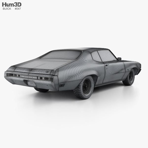Buick GS 455 Stage 1 coupe 1970 3D model.