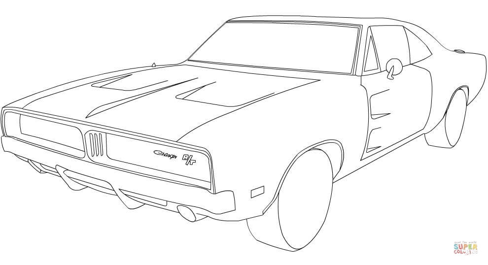 Free Dodge Charger Car Coloring Pages, Download Free Clip.