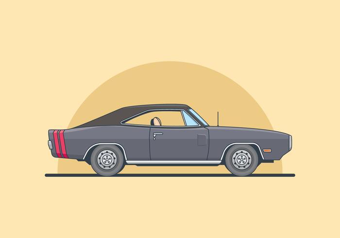 Dodge Charger Illustration.