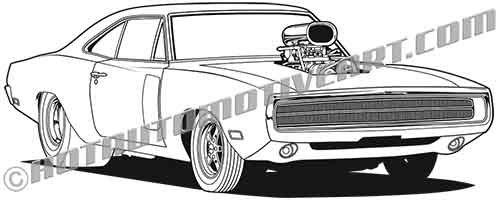 1970 Muscle Car with Blower and Scoop.