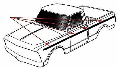 1969 1970 1971 1972 Chevy Gmc Truck Shortbed Fleet Upper.