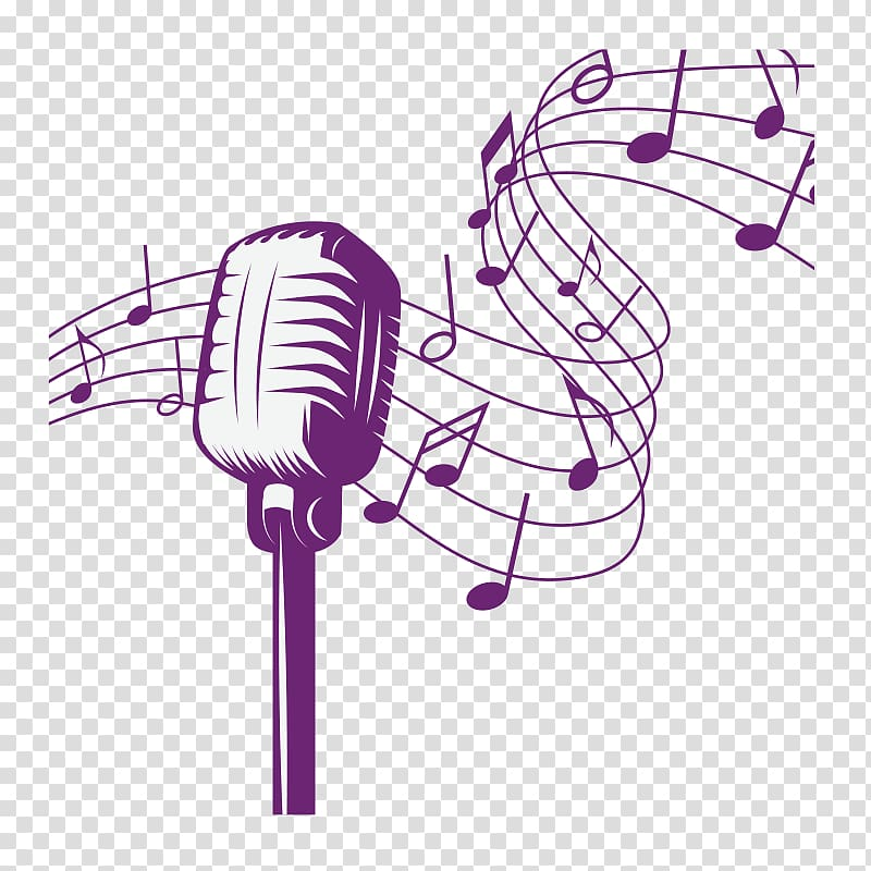Purple and white microphone , Microphone 1970s Music Song.