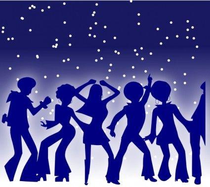 Disco Dancers clip art.