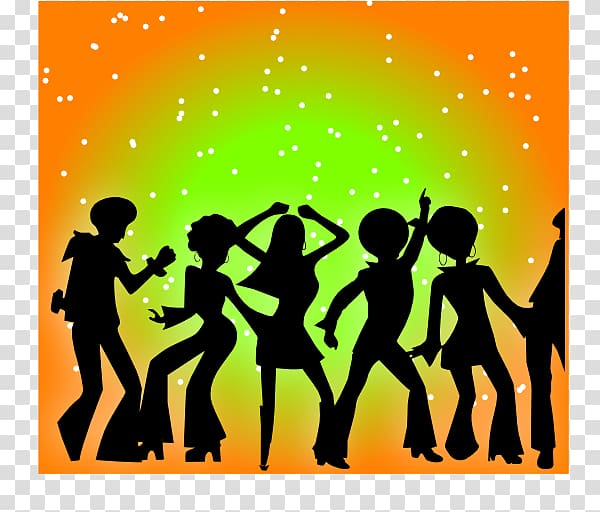 Free party Dance , 70s transparent background PNG clipart.